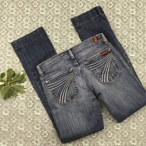 7FAM Seven Dojo Light Wash Flare Jeans